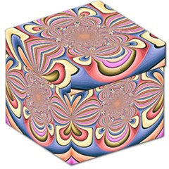Pastel Shades Ornamental Flower Storage Stool 12