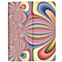 Pastel Shades Ornamental Flower Apple iPad 3/4 Flip Case View1