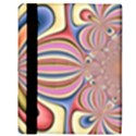 Pastel Shades Ornamental Flower Apple iPad 3/4 Flip Case View3