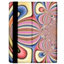 Pastel Shades Ornamental Flower Samsung Galaxy Tab 10.1  P7500 Flip Case View2