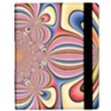 Pastel Shades Ornamental Flower Samsung Galaxy Tab 10.1  P7500 Flip Case View3