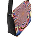 Pastel Shades Ornamental Flower Flap Messenger Bag (L)  View2