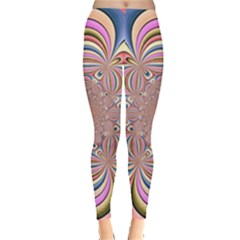 Pastel Shades Ornamental Flower Leggings