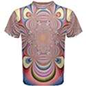 Pastel Shades Ornamental Flower Men s Cotton Tee View1