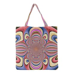 Pastel Shades Ornamental Flower Grocery Tote Bag