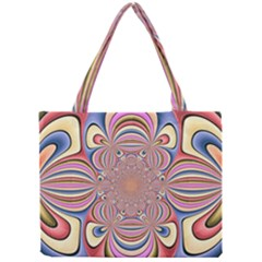 Pastel Shades Ornamental Flower Mini Tote Bag