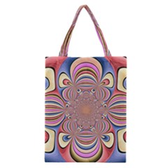 Pastel Shades Ornamental Flower Classic Tote Bag