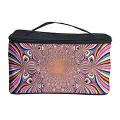 Pastel Shades Ornamental Flower Cosmetic Storage Case