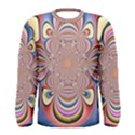 Pastel Shades Ornamental Flower Men s Long Sleeve Tee View1