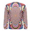 Pastel Shades Ornamental Flower Men s Long Sleeve Tee View2