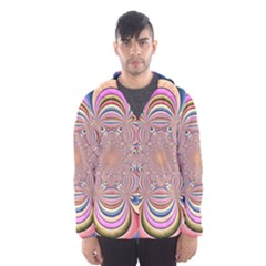 Pastel Shades Ornamental Flower Hooded Wind Breaker (men)