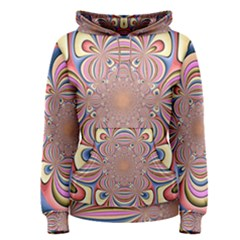 Pastel Shades Ornamental Flower Women s Pullover Hoodie