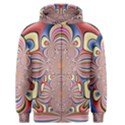 Pastel Shades Ornamental Flower Men s Zipper Hoodie View1