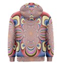 Pastel Shades Ornamental Flower Men s Zipper Hoodie View2