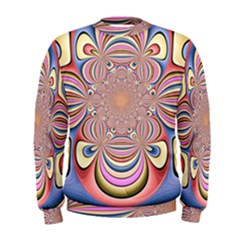 Pastel Shades Ornamental Flower Men s Sweatshirt