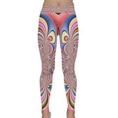 Pastel Shades Ornamental Flower Yoga Leggings