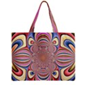 Pastel Shades Ornamental Flower Zipper Mini Tote Bag View2