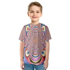 Pastel Shades Ornamental Flower Kids  Sport Mesh Tee