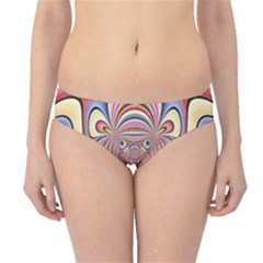 Pastel Shades Ornamental Flower Hipster Bikini Bottoms