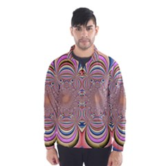 Pastel Shades Ornamental Flower Wind Breaker (Men)