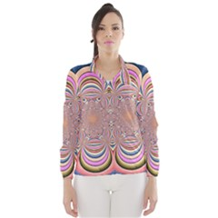 Pastel Shades Ornamental Flower Wind Breaker (women)