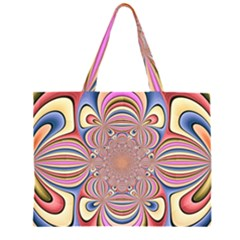 Pastel Shades Ornamental Flower Large Tote Bag