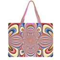 Pastel Shades Ornamental Flower Large Tote Bag View1