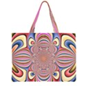 Pastel Shades Ornamental Flower Large Tote Bag View2
