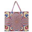 Pastel Shades Ornamental Flower Zipper Large Tote Bag View1