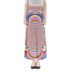 Pastel Shades Ornamental Flower Maxi Skirts