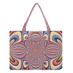 Pastel Shades Ornamental Flower Medium Tote Bag