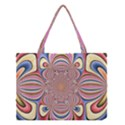 Pastel Shades Ornamental Flower Medium Tote Bag View1