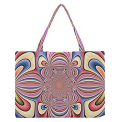 Pastel Shades Ornamental Flower Medium Zipper Tote Bag