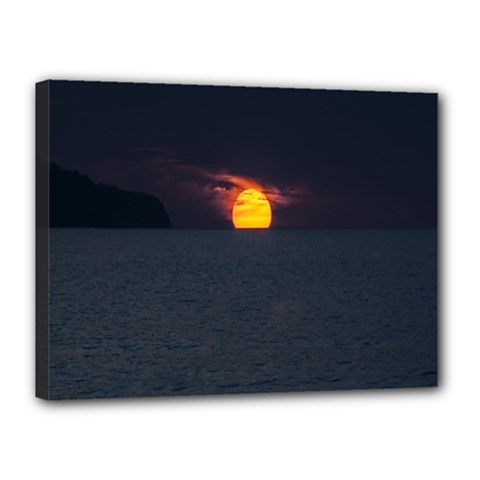 Sunset Ocean Azores Portugal Sol Canvas 16  x 12