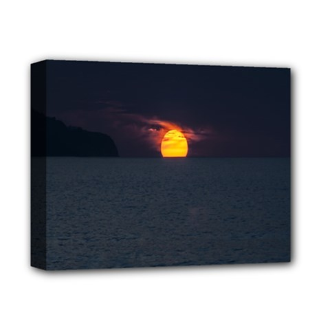 Sunset Ocean Azores Portugal Sol Deluxe Canvas 14  x 11