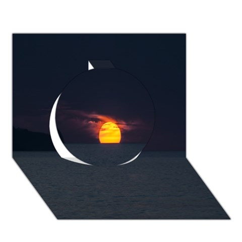 Sunset Ocean Azores Portugal Sol Circle 3D Greeting Card (7x5)