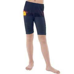 Sunset Ocean Azores Portugal Sol Kids  Mid Length Swim Shorts