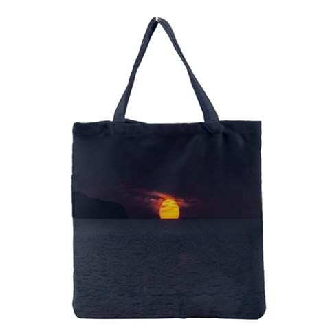 Sunset Ocean Azores Portugal Sol Grocery Tote Bag