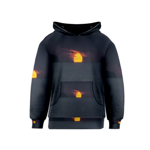 Sunset Ocean Azores Portugal Sol Kids  Pullover Hoodie
