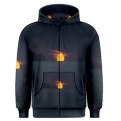 Sunset Ocean Azores Portugal Sol Men s Zipper Hoodie