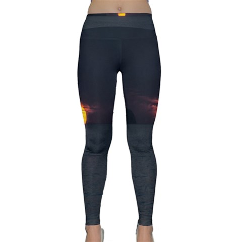 Sunset Ocean Azores Portugal Sol Yoga Leggings