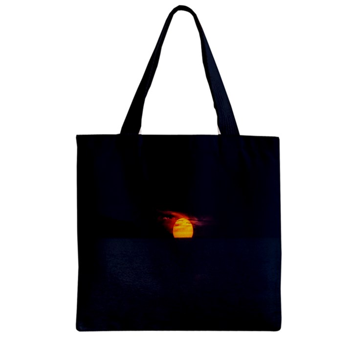 Sunset Ocean Azores Portugal Sol Zipper Grocery Tote Bag