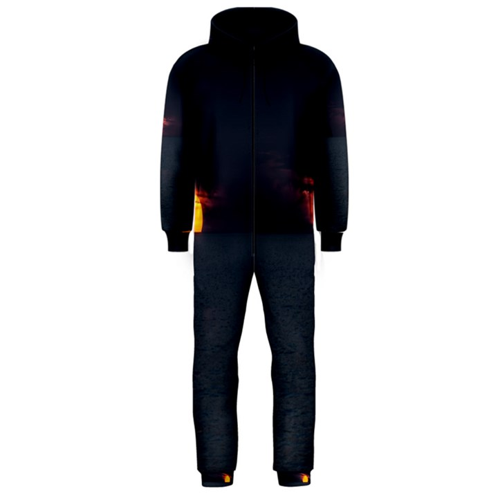 Sunset Ocean Azores Portugal Sol Hooded Jumpsuit (Men)