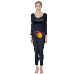 Sunset Ocean Azores Portugal Sol Long Sleeve Catsuit