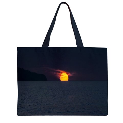 Sunset Ocean Azores Portugal Sol Large Tote Bag