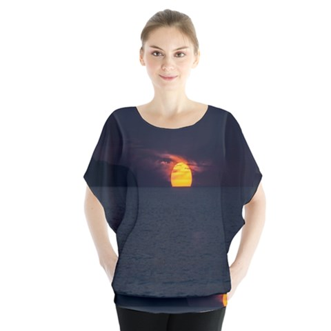 Sunset Ocean Azores Portugal Sol Blouse