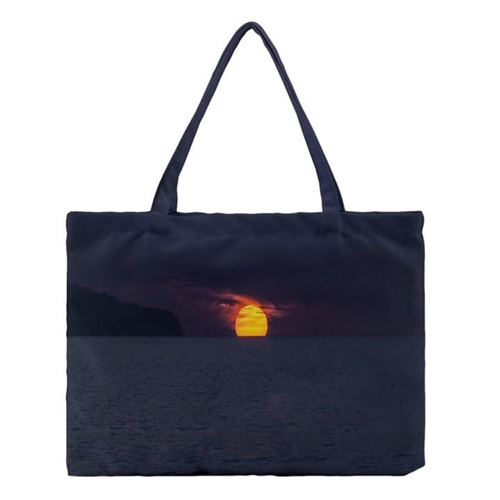 Sunset Ocean Azores Portugal Sol Medium Tote Bag
