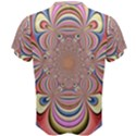 Pastel Shades Ornamental Flower Men s Cotton Tee View2
