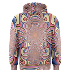 Pastel Shades Ornamental Flower Men s Pullover Hoodie