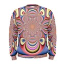 Pastel Shades Ornamental Flower Men s Sweatshirt View1